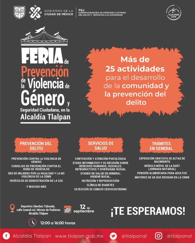 Tlalpan Realizará Feria De Prevención Contra La Violencia De